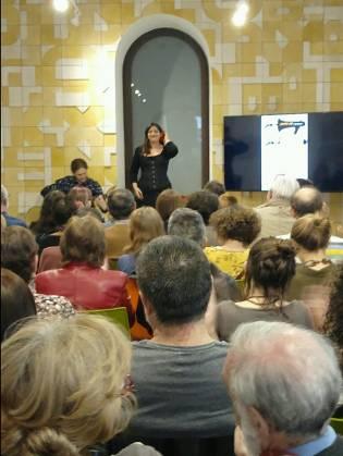 Nuria Gómez de la Cal en Casa de la Lectura de Segovia