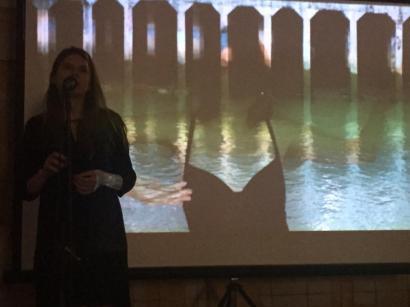 Miriam Reyes en la Casa de la Lectura de Segovia